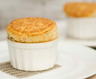 Tom's Orkney Cheddar Souffle.
