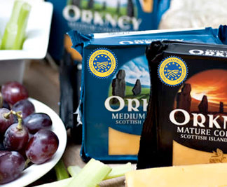 The award winning and now protected Orkney Cheddar.